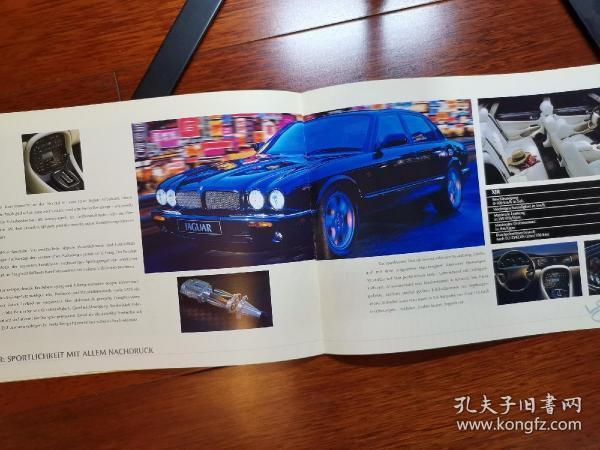 1998年款 捷豹 美洲虎 XJ6 XJ8 XJS 轿车 广告册 宣传册 画册 样本 型录