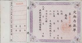 民国吴县田业银行定期存单