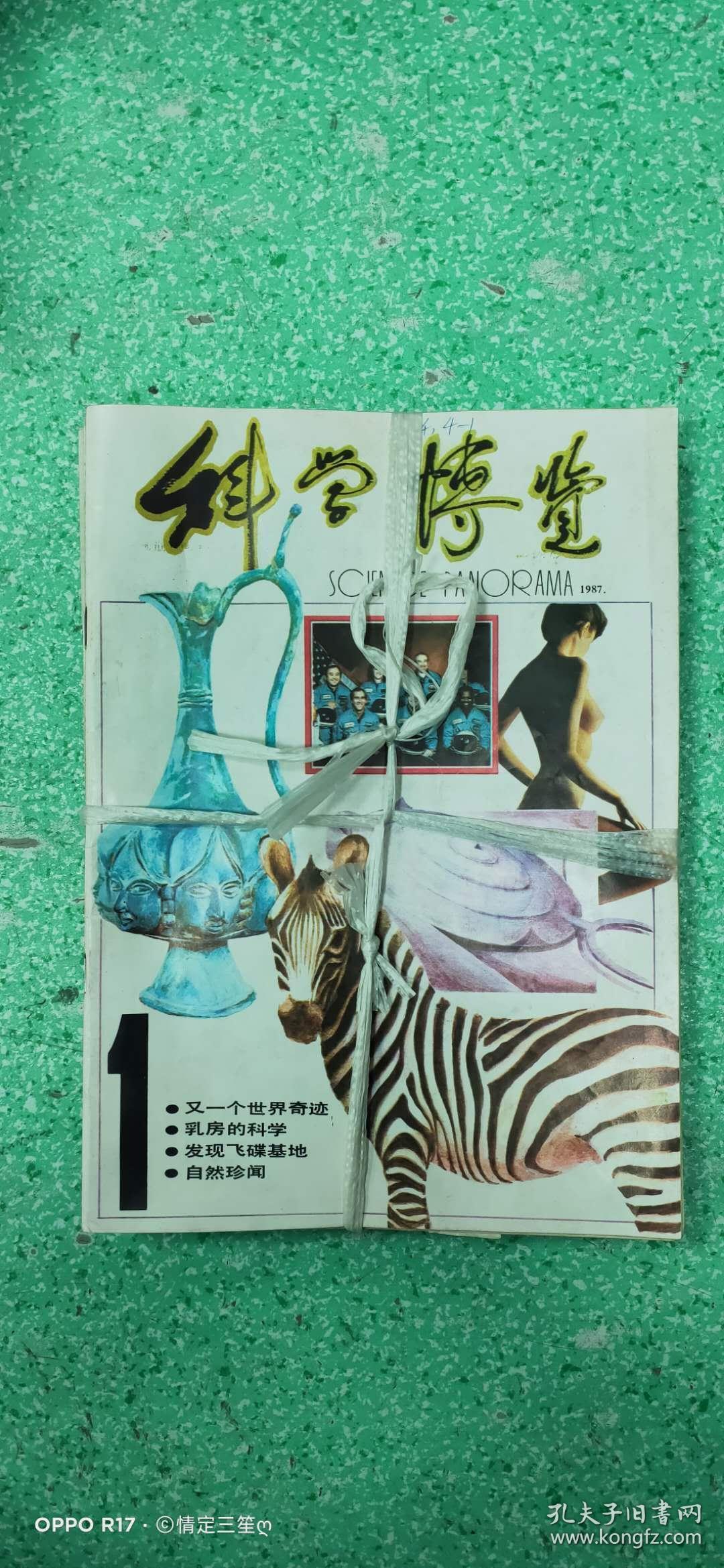 科学博览1987年1-12册(书年代时间较长,书内可能会有轻微磨损或者轻微水印,不碍事)