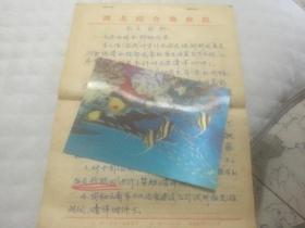 湖北综合勘察院陆学智手稿三页