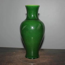 单色釉宝石绿釉观音瓶
