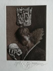乔丹诺夫藏书票11(一印)