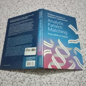 ANALYTIC PATTERN MATCHING[分析模式匹配]16开原版精装