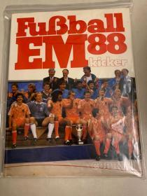 德国踢球者 1988欧洲杯足球特刊,送1988欧洲杯夺冠海报一张