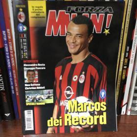 Forza Milan AC米兰官方杂志队刊2004年8月卡福 无海报无赠品