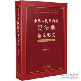 中华人民共和国民法典条文要义杨立新 正版现货