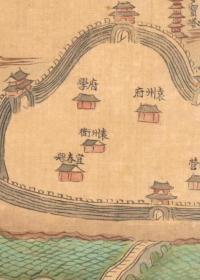 0146-14古地图1682-1691 江西十三府道里图 清康熙21年前后  袁州。纸本大小55*72厘米。宣纸原色微喷印制,
