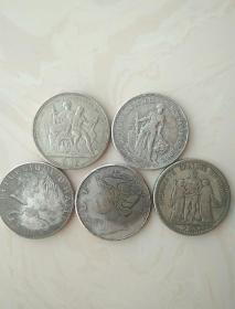 外国银元银币5枚