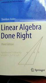 Linear algebra done right, 3rd Edition, 2015 英文
