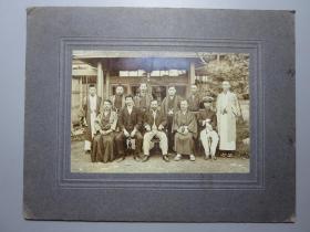晚清民国-日本老照片(带粘板)  照片净尺寸:14.5*9.8厘米