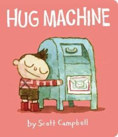 英文原版Hug Machine拥抱的力量纸板书