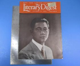 1934年中国号《the literary digest》汪精卫封面