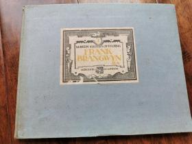 百年蚀刻版画11枚 Mordern master of etching 1 FRANK BRANGWYN 英国天才画家 1924年制作