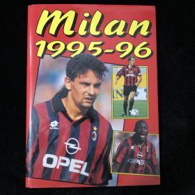 AC米兰1995/1996赛季官方画册 巴乔 马尔蒂尼 维阿 卡佩罗 意大利足球