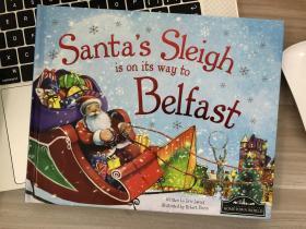 英文原版绘本 Santa's Sleigh is on its way to Belfast 精装