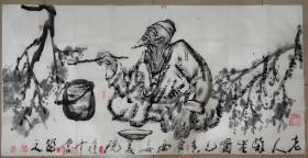 夜中会,1956年生于西安,国家一级美术师,西安美术学院教授。1975年毕业于陕西省艺术学院,1983年毕业于西安美术学院油画系,获学士学位,并留校任教至今。1998年完成美院高研班研究生学业。中国美术艺术家协会陕西分会执行主席,中国国家博物馆画廊特聘书画家、中国草书协会COM中心特聘理事、陕西西安