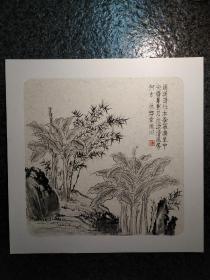 小寫意  國畫芭蕉 韋俊川畫
