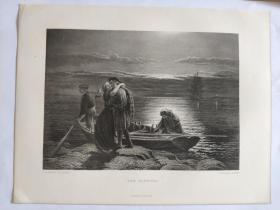十九世纪 欧洲钢版画 手工雕刻  凹印版画 34-20200618