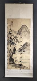 D302:回流手绘大幅山水图(日本回流书画.回流老画.老字画