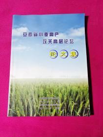 安徽省小麦高产攻关高层论坛论文集