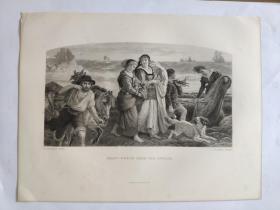 十九世纪 欧洲钢版画 手工雕刻  凹印版画 27-20200618