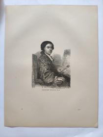 1876年 木版画《理查德·威尔逊肖像》(RICHARD WILSON)
