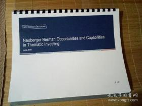 Neuberger Berman Opportunⅰties and CapabⅰⅠitⅰes ⅰn Thematic lnvesting 2019