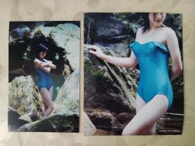 彩色照片:胡渝生拍摄的彩色照片---淑女  压题片        共2张照片售     彩色照片箱3   00203