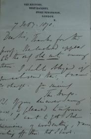 1860 年Thomas HUGO - History of Taunton Priory 建筑美学经典《唐顿修道院图考》 初版善本 作者签名书简 精美蚀刻版画插图