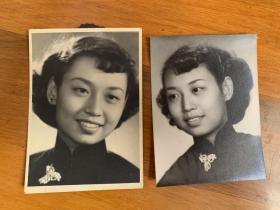 民国美女照片2张