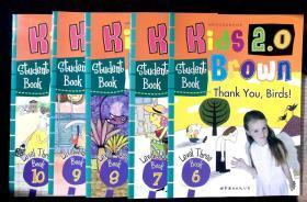 Kids Brown布朗儿童英语Level Three  6-10 book 5册无笔记有贴画