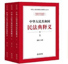 预售 中华人民共和国民法典释义(上中下)