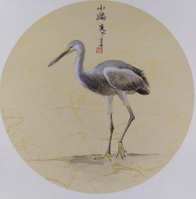 青年新锐油画家疫情其创作国画小品《鸟系列》10、33x33cm 作品成交记录雅昌拍卖可查