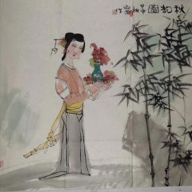 张建岗       尺寸  84/76  软件 解放军艺术学院副教授,1955年2月生,内蒙古包头市人。有《水乡》1990年于土耳其安卡拉参加《土耳其双年展》;《战争年代的印象》1 992年参加纪念建军65周年画展;《女肖像》1992年参加香港《金秋大展》。