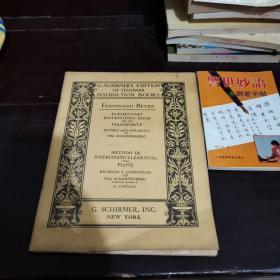 民国音乐钢琴曲书籍SCHIRMER'S LIBRARY oF Musical Classics     PIANO METHODS,STUDIES,AND EXERCISES