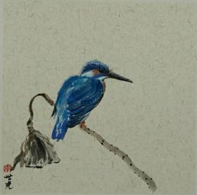 青年新锐油画家疫情其创作国画小品《鸟系列》9、33x33cm 作品成交记录雅昌拍卖可查