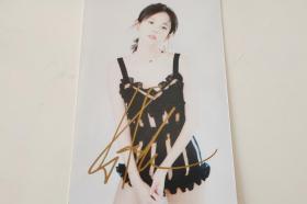 演员古力娜扎签名6寸照片