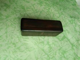 浩然斋集藏印章之一:文士怀印:早期精美老木盒装水晶印章