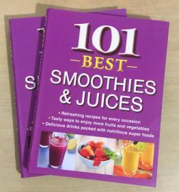 101 Best SMOOTHIES JUICES 101最好的果汁制作方法 英文美食菜谱【软精装本  192页】