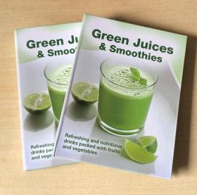 英文版Green Juices Smoothies果汁冰沙食谱制作技巧及做法菜谱【精装128页】