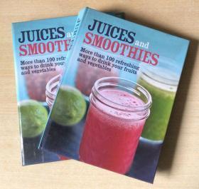 英文 Juices and Smoothies 冰沙果汁冰激凌冷饮甜品制作技巧做法食谱美食菜谱 【精装127页】