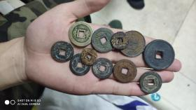 一把铜钱 保真包老