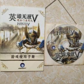 游戏光盘 魔法门系列之英雄无敌V   游戏使用手册+1CD如图
