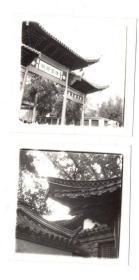 杭州风景照片2张,有个*灵遗迹牌坊,单张尺寸6*6CM