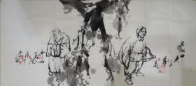 夜中会,1956年生于西安,国家一级美术师,西安美术学院教授。1975年毕业于陕西省艺术学院,1983年毕业于西安美术学院油画系,获学士学位,并留校任教至今。1998年完成美院高研班研究生学。中国美术艺术家协会陕西分会执行主席,中国国家博物馆画廊特聘书画家、中国草书协会COM中心特聘理事、陕西西安,,