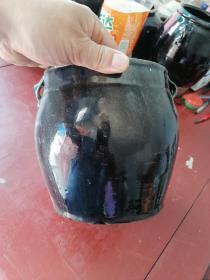 清老窑瓷黑瓷四系罐,高18,口16.5
