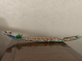 赛龙舟,吃棕球,纪念屈原。端午龙舟文化。潮安濒临失传的龙舟工艺。潮安庵埠龙舟师傅按实物比例手工制作的龙舟模型。