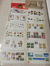 月历台历13张全-1986年中国集邮总公司发行