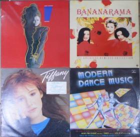 留声机专用  BANANARAMA JANET JACKSON TIFFANY MODERN DANCE MUSIC   4 只 港版