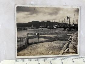 民国时期山脉河流风景老照片。